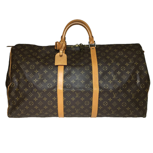 Auth Louis Vuitton Monogram M41422 Keepall 60 Boston Bag