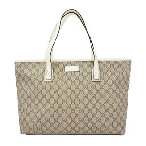 Auth Gucci Tote Bag GG Supreme Beige 211137 Lady's