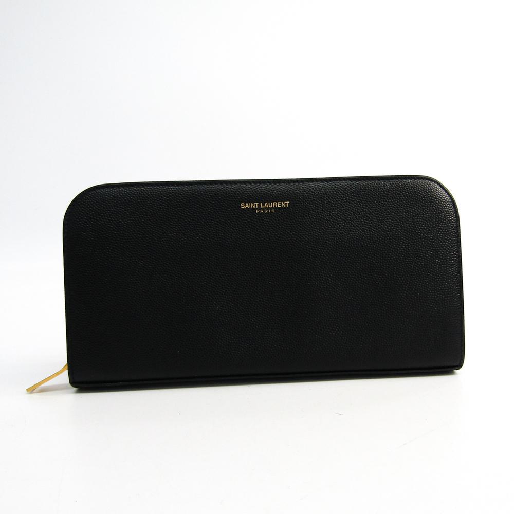 サン・ローラン(Saint Laurent) 326599 レディース  カーフスキン 長財布(二つ折り) ブラック