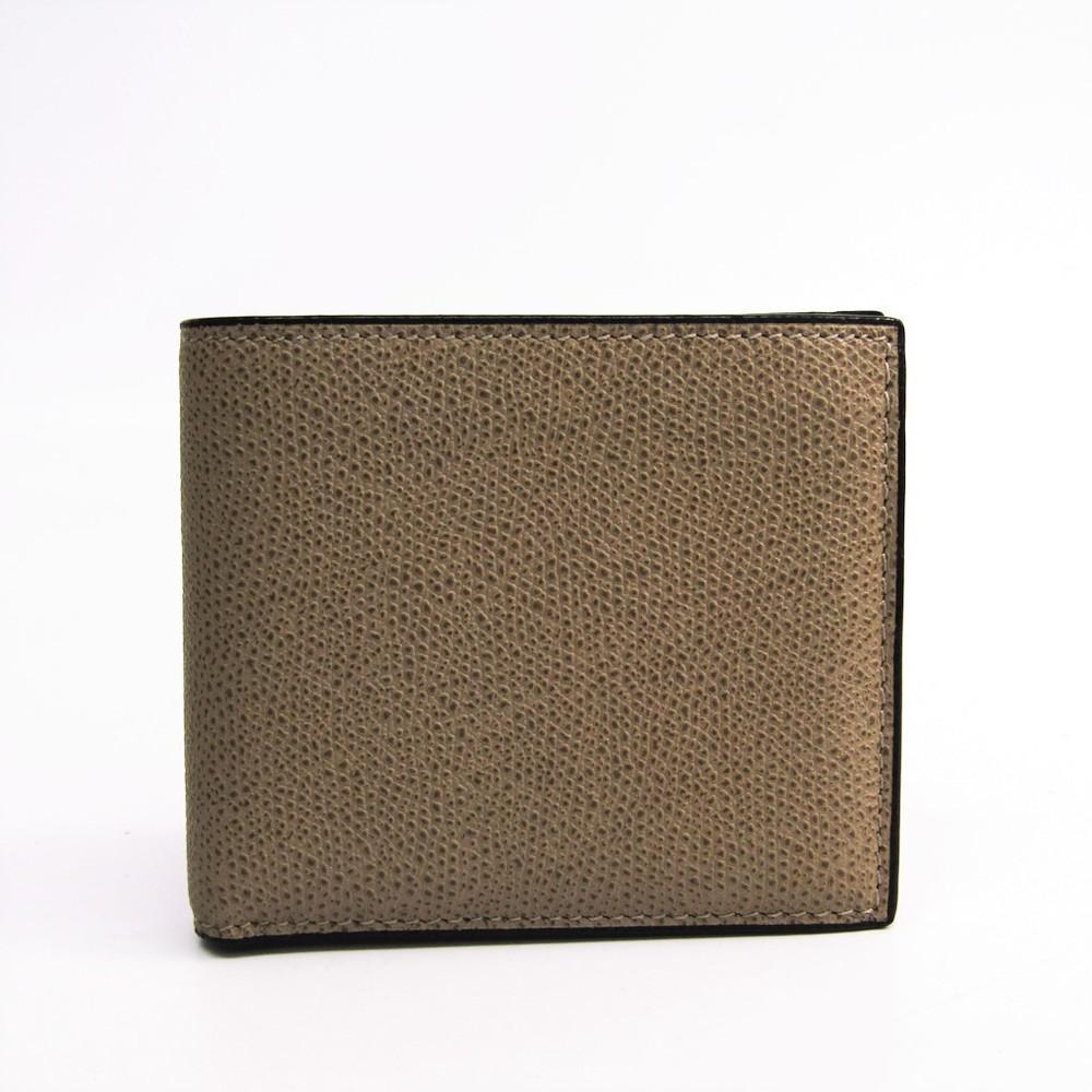 Valextra V8L04 Unisex  Calfskin Bill Wallet (bi-fold) Oyster Gray