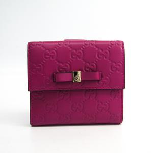 グッチ(Gucci) グッチッシマ 406925 レディース レザー 財布(二つ折り) ピンク