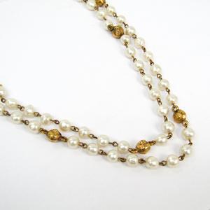 シャネル(Chanel) イミテーションパール,メタル レディース ネックレス (ゴールド,ホワイト)
