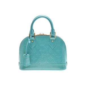 Louis Vuitton Vernis M91696 Alma BB Women's Shoulder Bag Blue Lagon