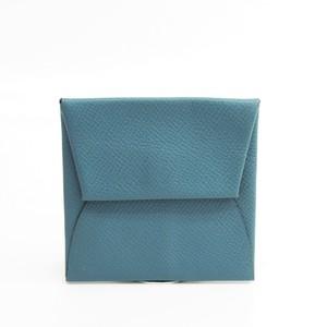 Hermes Bastia Epsom Leather Coin Purse/coin Case Blue Jean