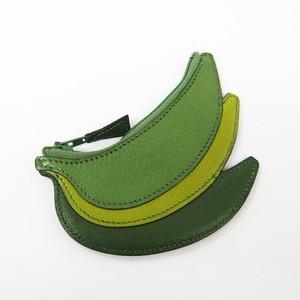 Hermes Banana Women's Chevre Leather Coin Purse/coin Case Green