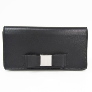 Balenciaga 354958 Women's Leather Long Wallet (bi-fold) Black