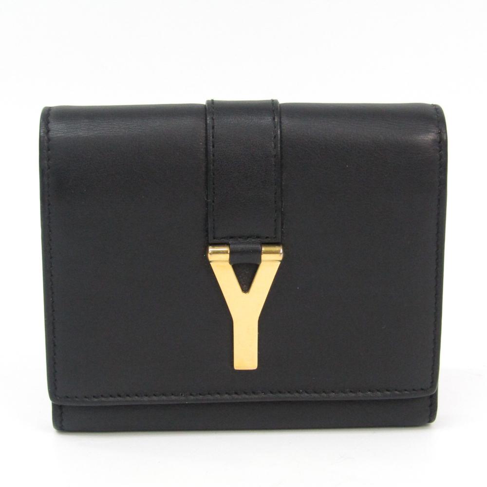 サン・ローラン(Saint Laurent) 328599 レディース レザー 財布(三つ折り) ブラック
