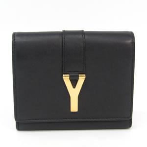 Saint Laurent 328599 Women's Leather Wallet (tri-fold) Black