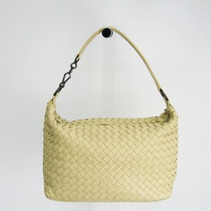 Bottega Veneta Intrecciato Women's Leather Handbag Pale Yellow