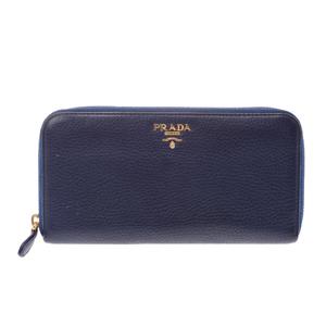 Prada  Calfskin Wallet Blue