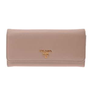 Prada Saffiano  Saffiano Leather Wallet Beige