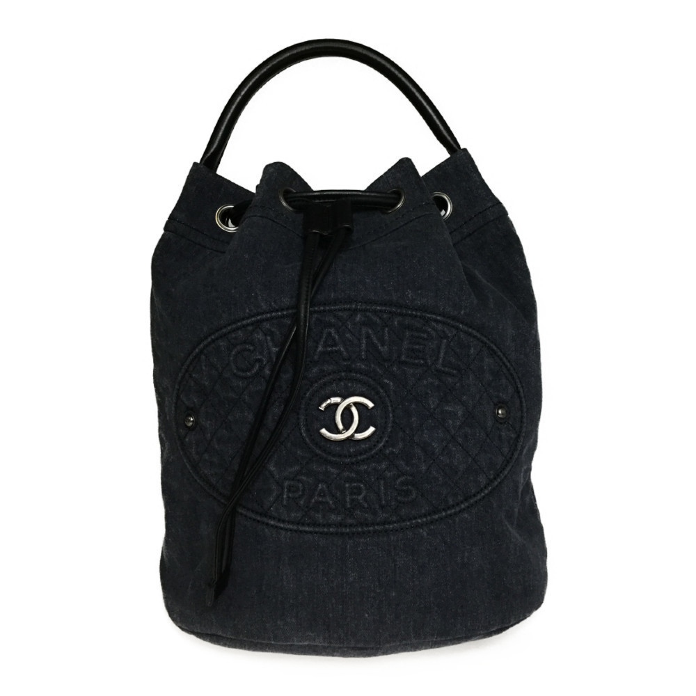 Auth Chanel Denim 2way Backpack
