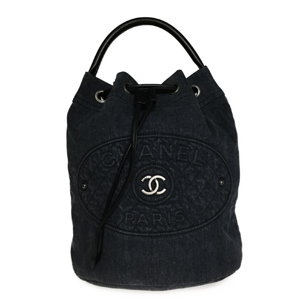 【中古】 シャネル(Chanel) デニム 2WAY リュックサック 巾着 バックパック