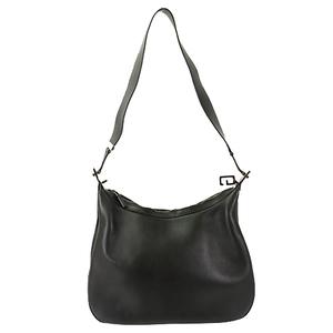 Auth Gucci Shoulder Bag Leather 001.3341 Black