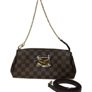Auth Louis Vuitton Damier N55213 Eva Women's Shoulder Bag