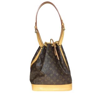 Auth Louis Vuitton Monogram M42224 Shoulder Bag Noe