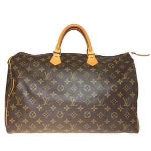 Auth Louis Vuitton Monogram M41522 Handbag speedy40