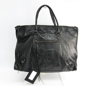 Balenciaga Weekender 110506 Women's Leather Tote Bag Black