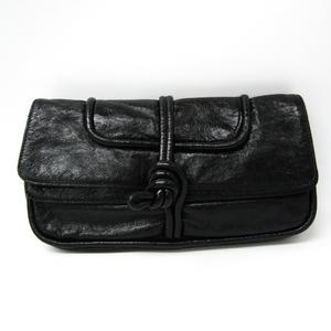 Loewe Women's Leather Clutch Bag Black