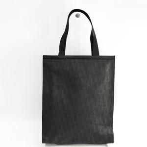 ディオール・オム(Dior Homme) メンズ コーティングキャンバス,レザー トートバッグ ブラック