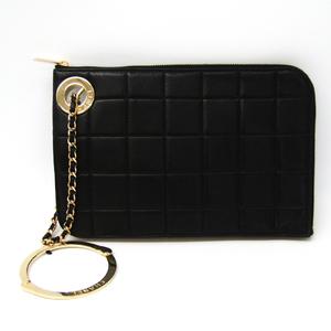 シャネル(Chanel) チョコバー レディース レザー クラッチバッグ ブラック,カーキ