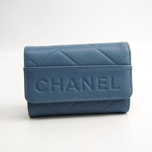 Chanel Women's Leather Key Case Blue