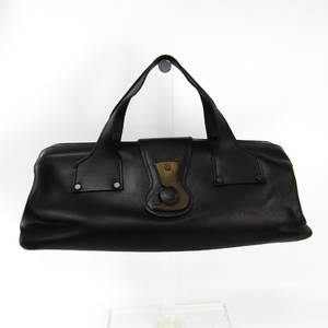 Gucci 104992 Unisex Leather Handbag Black