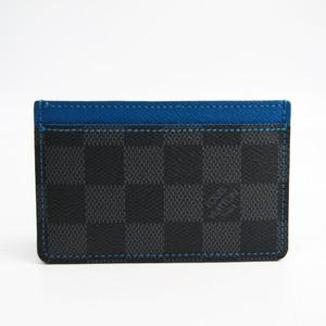 Louis Vuitton Card-holder N64029 Damier Graphite Card Case Blue,Damier Graphite