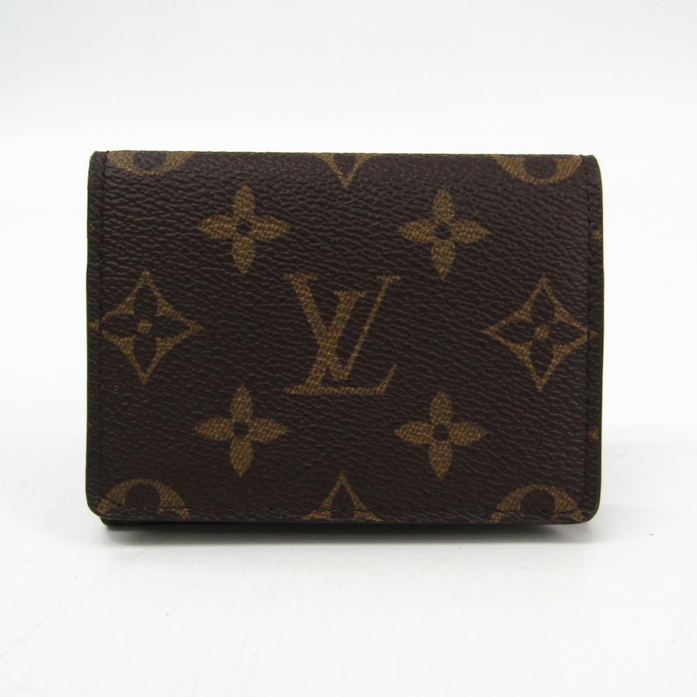 Louis Vuitton Monogram Business Card Case Enveloppe Carte De Visite M63801