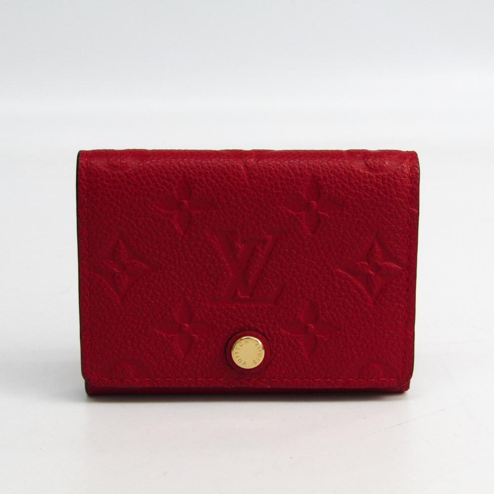 Louis Vuitton Monogram Empreinte Enveloppe Cartes De Visite M58457 Card Case Cerise