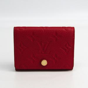 Louis Vuitton Monogram Empreinte Enveloppe Cartes De Visite M58457 Monogram Empreinte Card Case Cerise