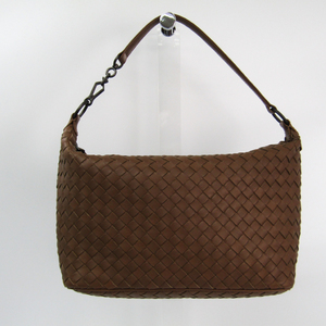 Bottega Veneta Intrecciato Women's Leather Shoulder Bag Light Brown