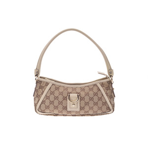 Gucci GG Canvas Accessory Pouch GG Canvas,Leather Pouch Beige,White