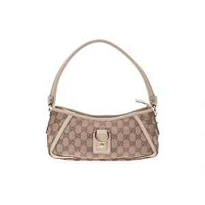 グッチ(Gucci) GGキャンバス Accessory pouch GGキャンバス,レザー ポーチ ベージュ,ホワイト