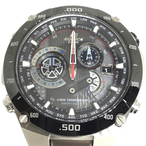 Auth Casio Edifice Radio Wave Control Solar Stainless Steel Men's Casual Watch EQW-M1100