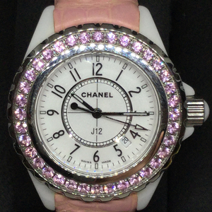 Auth Chanel J12 Quartz Ceramic Women's Dress Watch H1336
