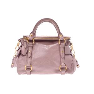 ミュウ・ミュウ(Miu Miu) 2way handbag レザー ハンドバッグ,ショルダーバッグ ピンク