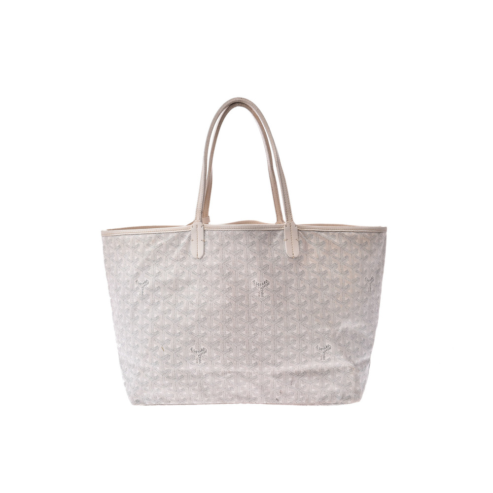 Goyard Saint Louis PM PVC Tote Bag White