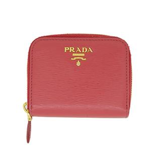 Auth Prada Coin Case  Pink Gold