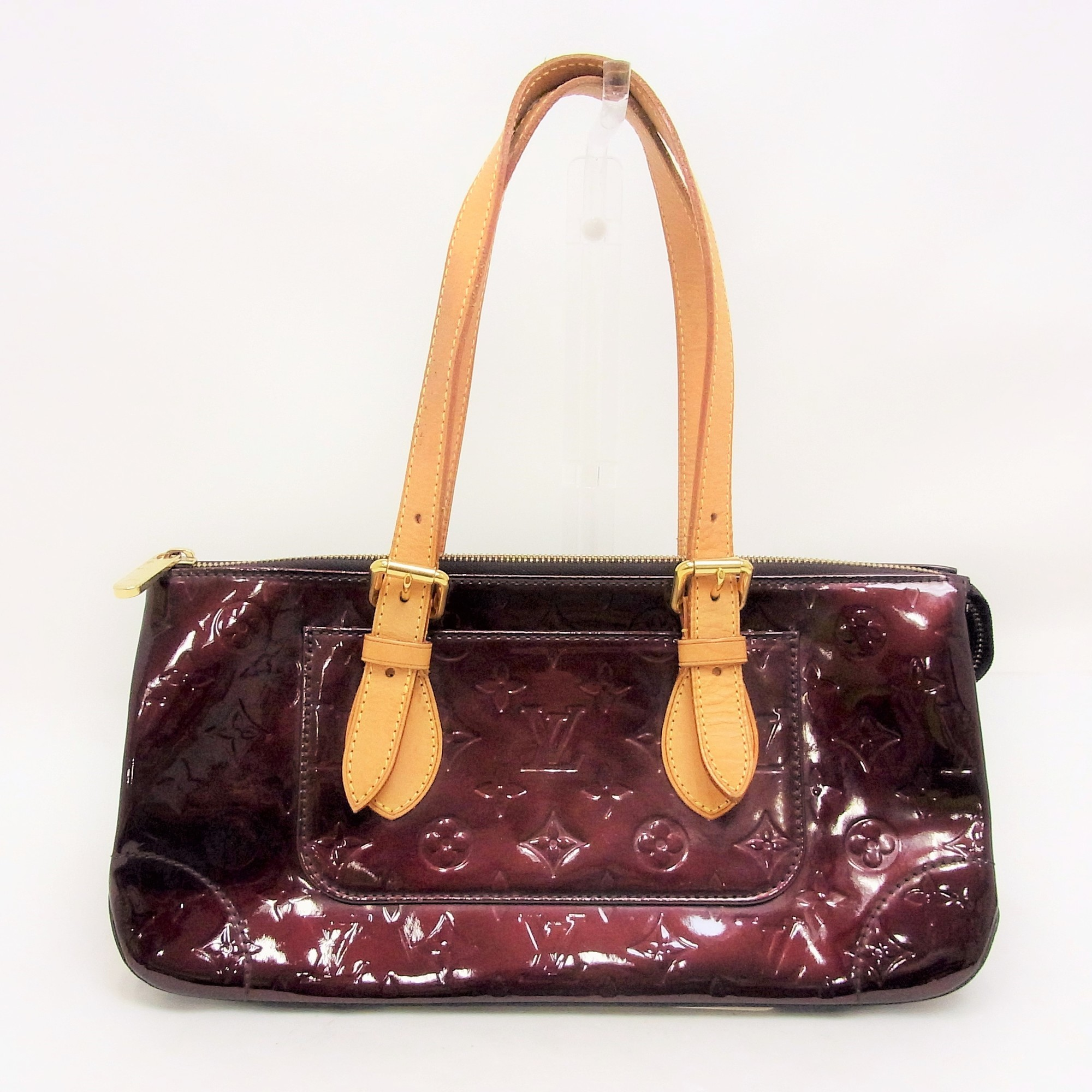 4bc608e5e32c Auth Louis Vuitton Monogram Vernis Rosewood Avenue M 93510 Women s Baguette  Bag