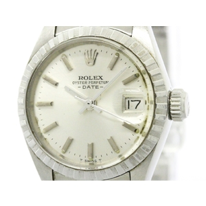 ロレックス(Rolex) オイスターパーペチュアル デイト 自動巻き ステンレススチール(SS) レディース ドレスウォッチ 6924