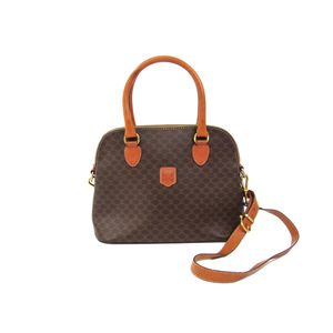 Celine Macadam Handbag Women's Handbag Brown