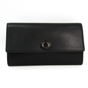 Valextra Leather Clutch Bag Black