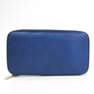 Valextra V9L06 Women's  Calfskin Long Wallet (bi-fold) Royal Blue