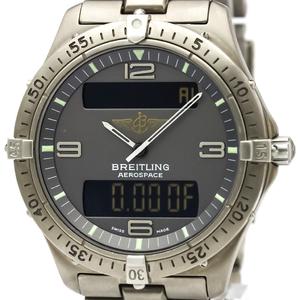 ブライトリング(Breitling) エアロスペース クォーツ チタン メンズ スポーツウォッチ E56062