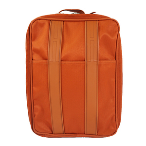 Auth Hermes Carry-on Luggage Acapulco Toile Chevron Orange