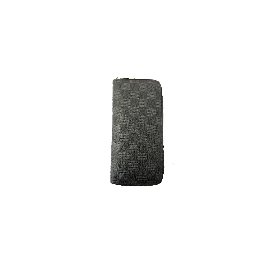 Auth Louis Vuitton Long Wallet Damier Graphite Zippy Wallet Vertical N63095 f9602ca8c5320
