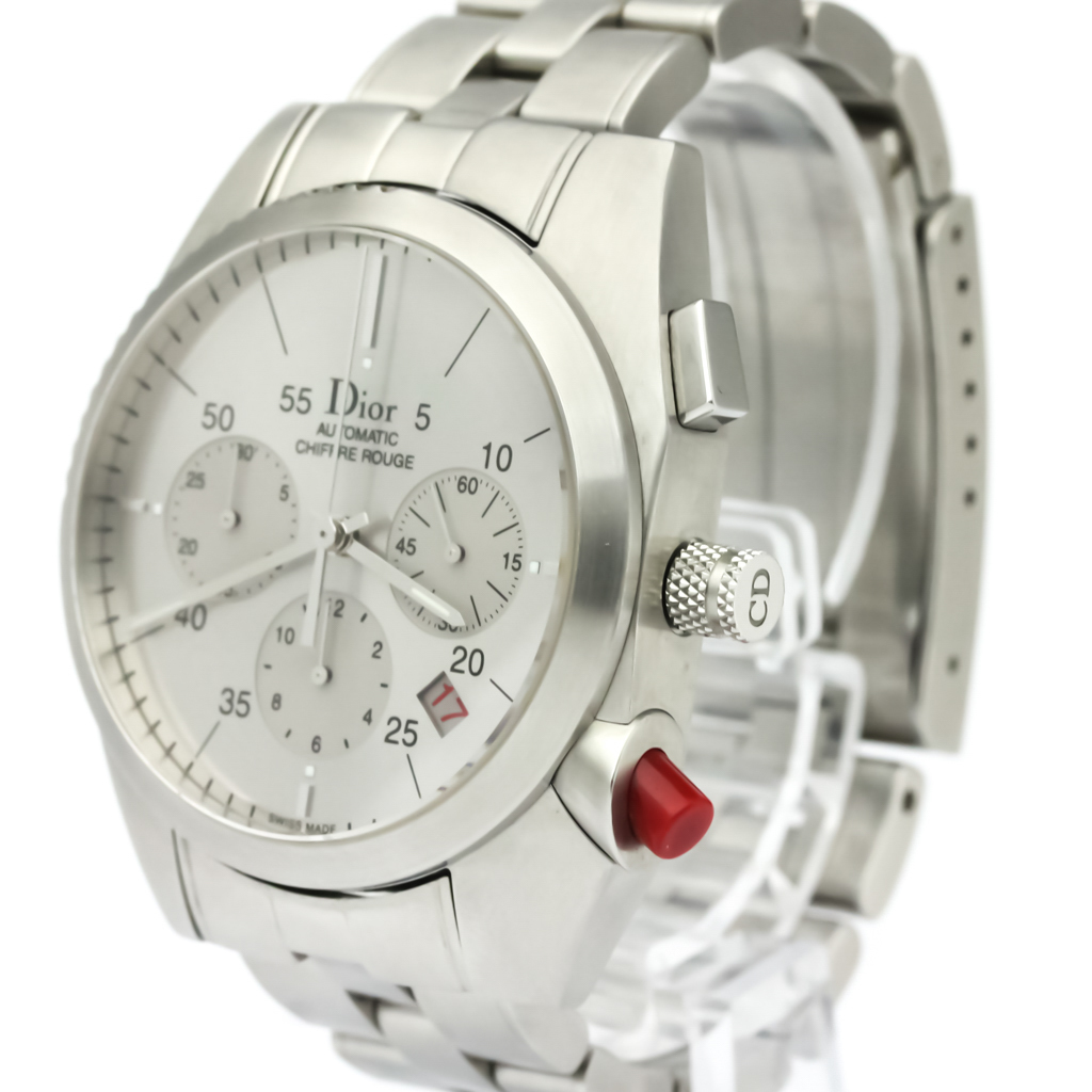 084b90866a2 Polished Christian Dior Chiffre Rouge Steel Automatic Watch CD084611 ...
