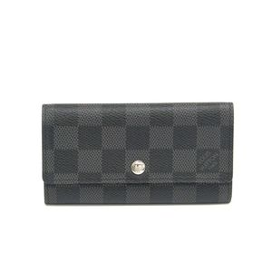 Louis Vuitton Damier Graphite Porte-Cles Voiture Men's Damier Graphite Key Case Damier Graphite N63139