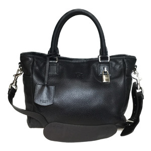 Auth Loewe 2way Bag Leather Shoulder Bag Handbag Black